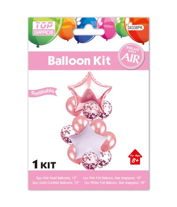 13pc balloon set pink 12/300s