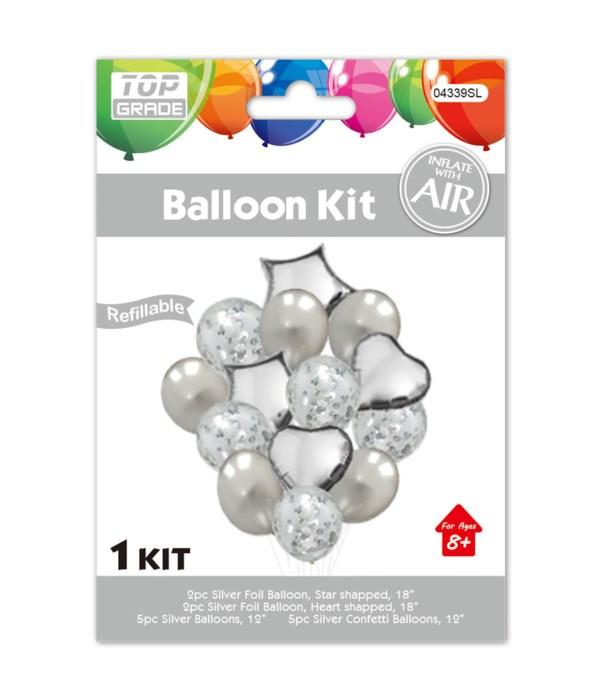 14pc balloon set silver 12/288