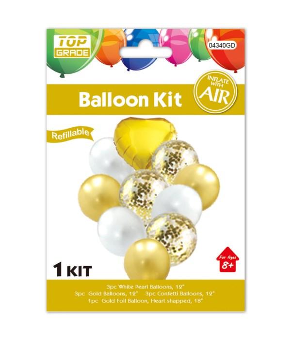 10pc balloon set gold 12/300s