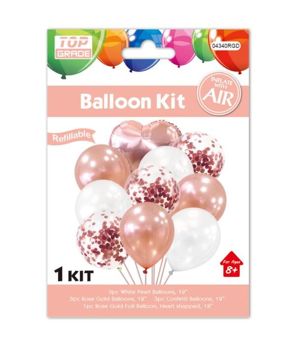10pc balloon set R.gold 12/300