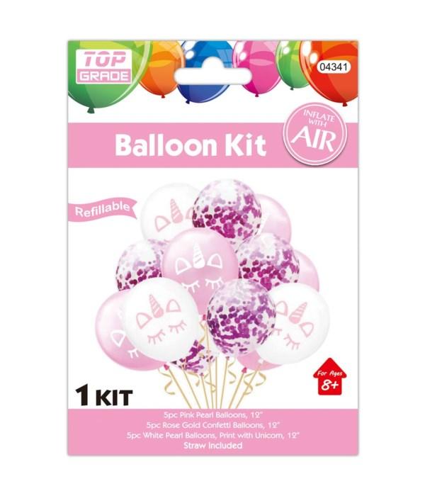 15pc balloon set unicorn12/300