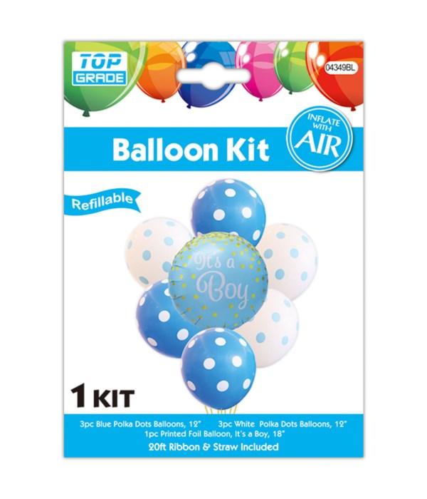 7pc balloon it's a boy 12/300s