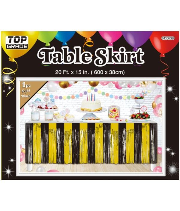 foil tinsel table skirt 24/144