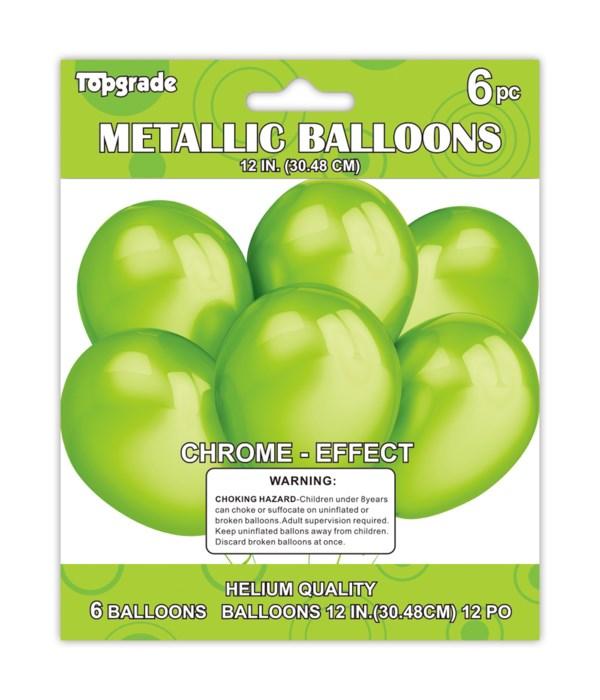 """12""""/6ct metallic balloon12/288"""