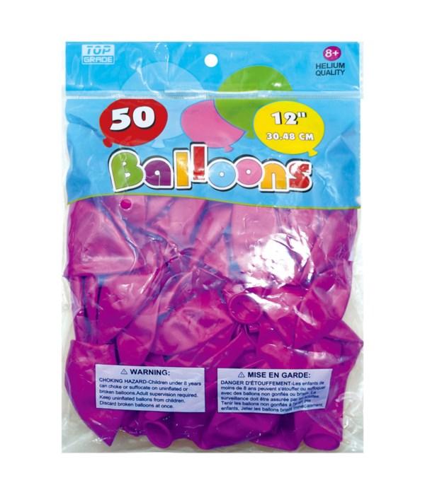 """12""""/50ct metallic balloon 6/96"""