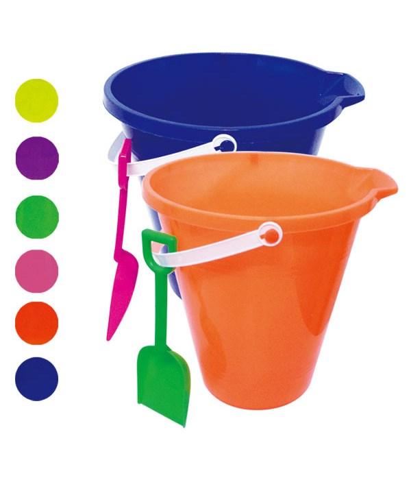 "9""round pail w/shovel 48s"