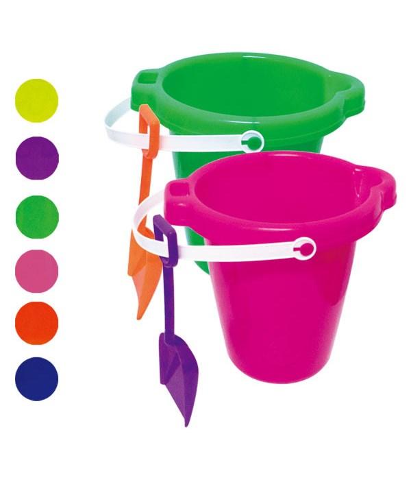 "7""round pail w/shovel 48s"