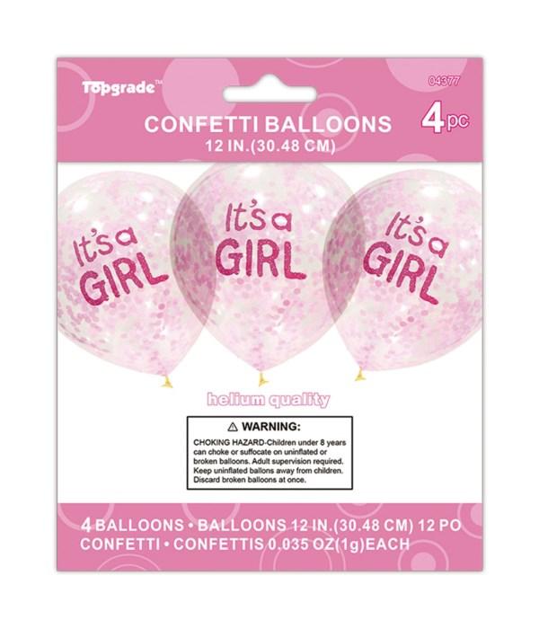 "12""/4ct balloon ""girl"" 12/240s"