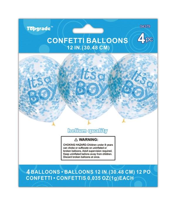 "12""/4ct balloon ""boy"" 12/240s"