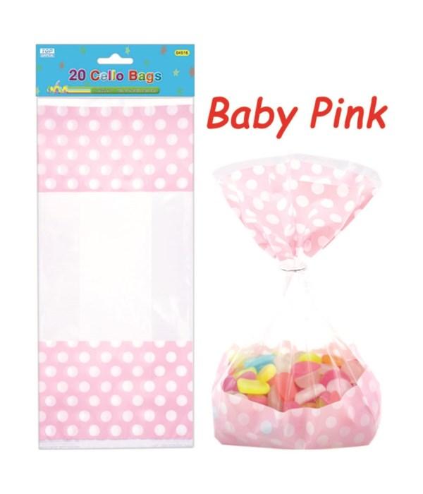 polka loot bag bb-pink