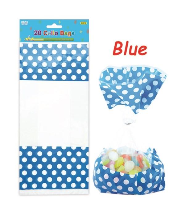 polka loot bag dk blue 24/288