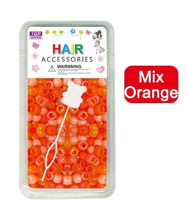 hair beads/mix orange 24/144's