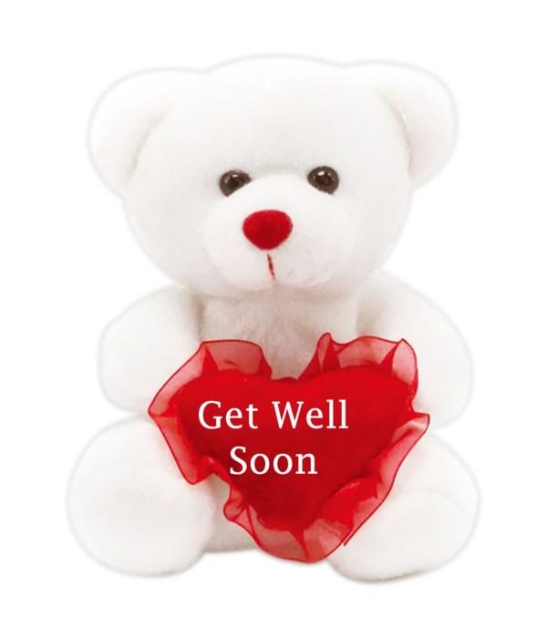 """8"""" bear """"get well soon"""" 24s"""