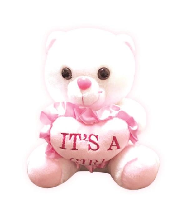 """8"""" bear it's a girl 24s"""