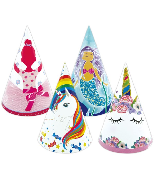 """8""""/6ct b'day hats 48s"""