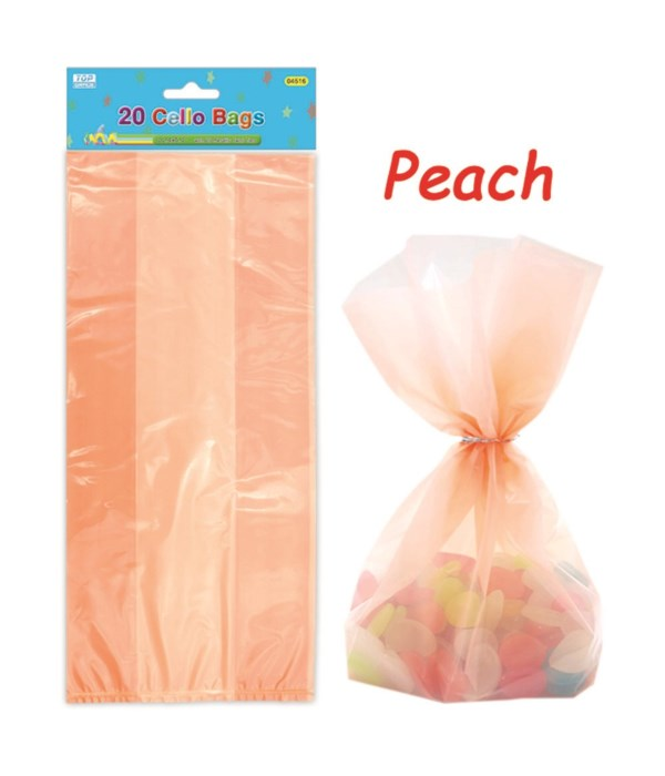 20ct loot bag peach 24/288s