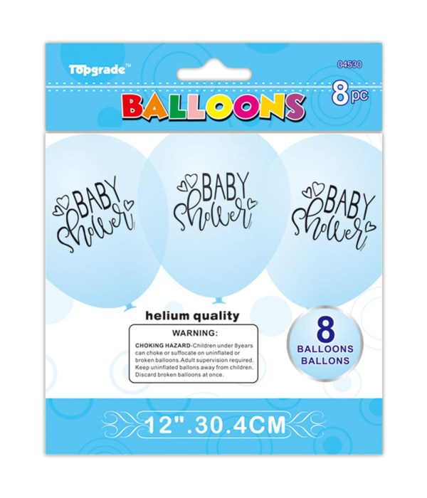 "12""/8ct printed balloon 12/240"