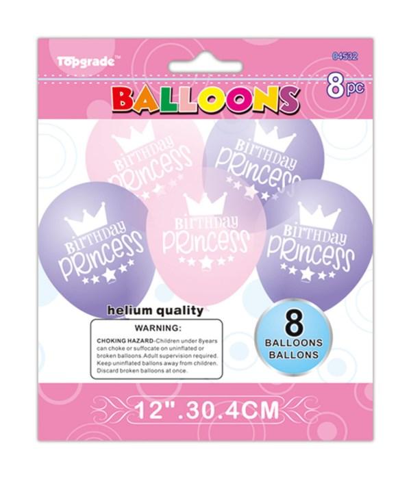 "8ct/12"" printed balloon 12/240"