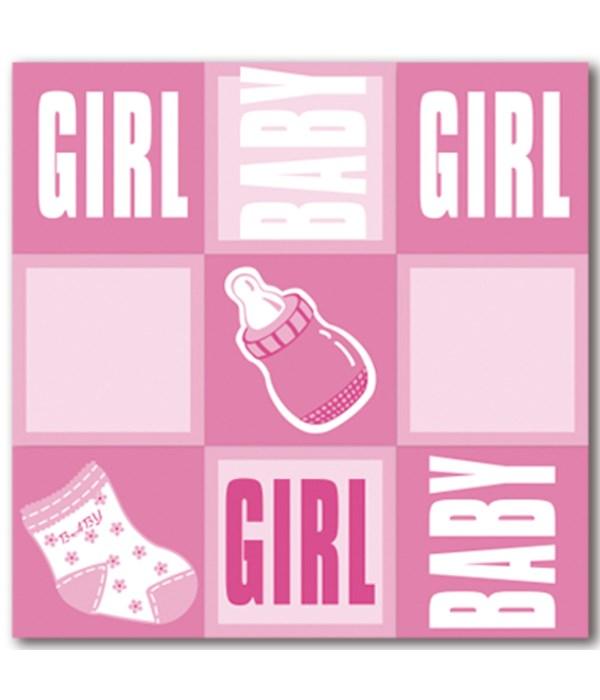 """napkin girl 13x13""""/8ct 48's"""