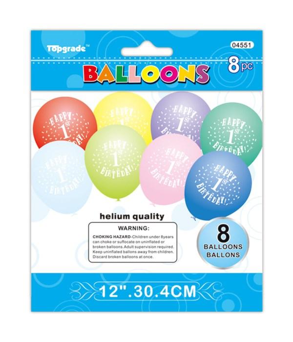 """12""""/8ct balloon #1 12/240s"""