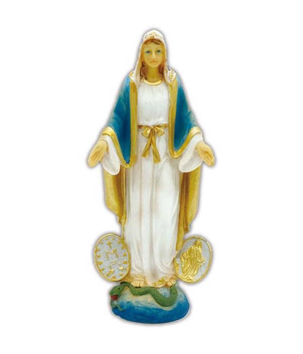 "virgin mary figurine 3x8""h/48s"