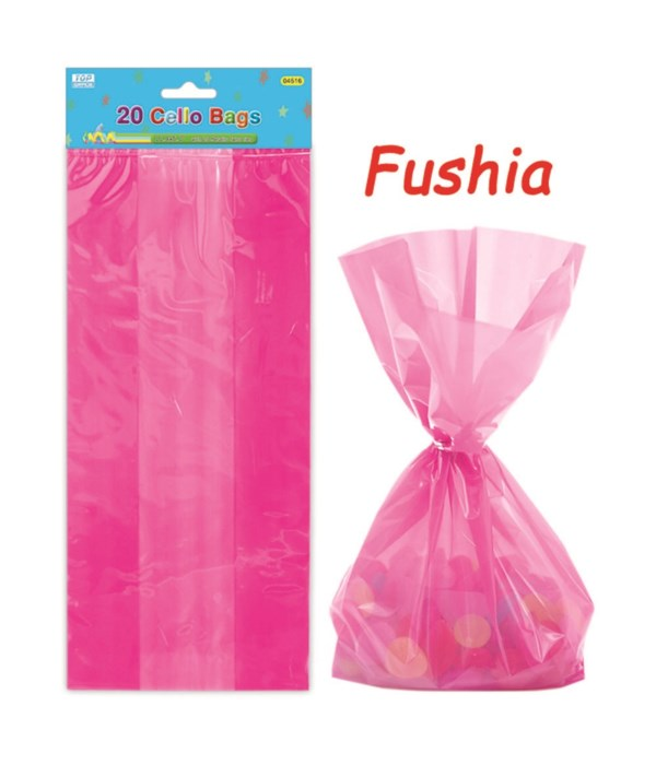 20ct loot bag hot pink 24/288s
