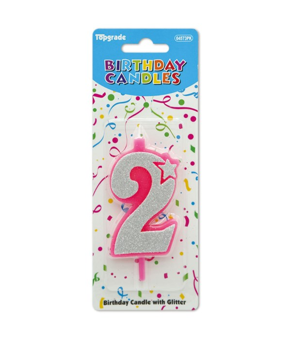 b'day candle pink #2 12/240s
