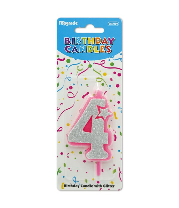 b'day candle pink #4 12/240s