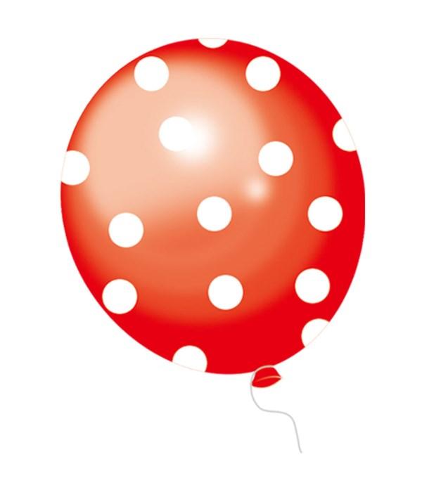 polka dot balloon red 12/48