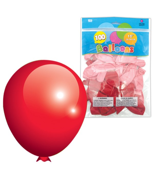 """12""""/100ct balloon red 6/48s"""