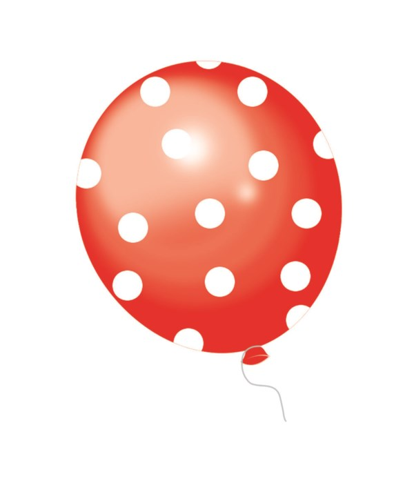 """12""""/8ct dotted balloon 12/288s"""