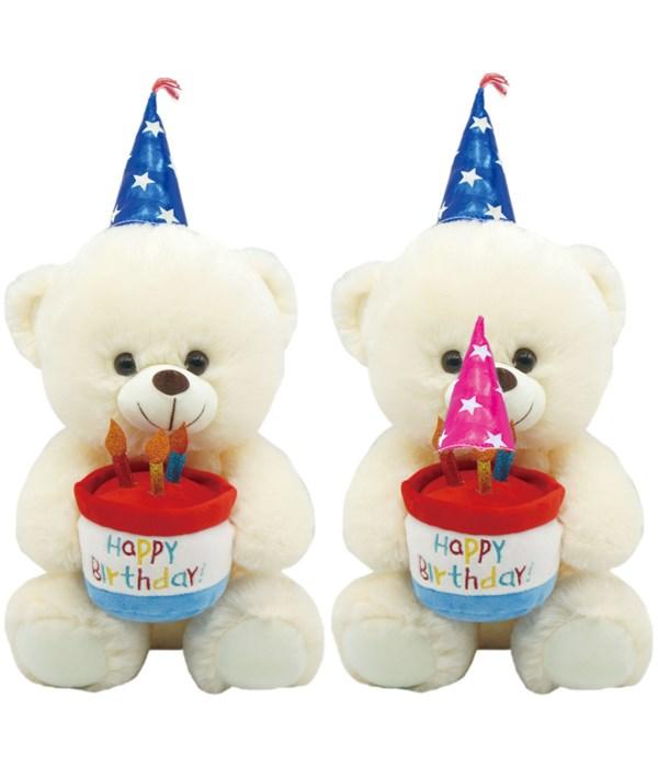 "16"" b'day bear w/cake 12s"