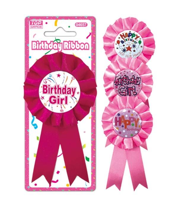 "3"" b'day badge girl 24/144s"