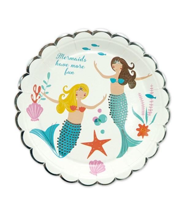 """7""""/8ct plate mermaid 24/144s"""