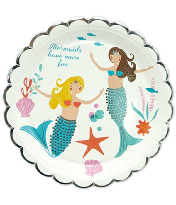 """9"""" 8ct Plate/Mermaid 24/144's"""