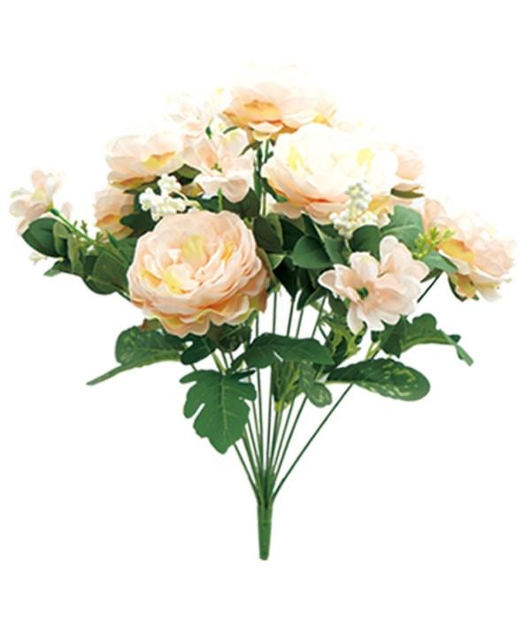 """19"""" 12-heads flower peach24/96"""