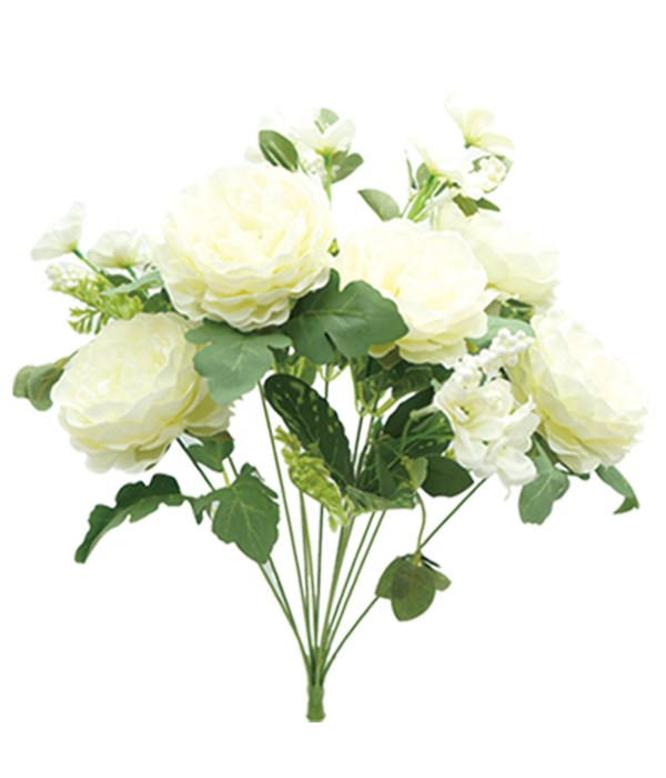 "19"" 12-heads flower white24/96"