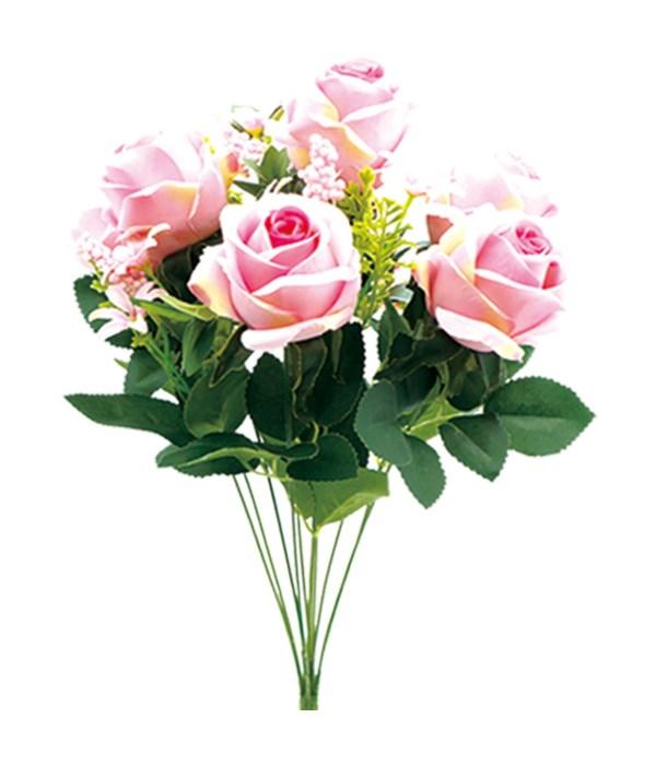 """19""""/12-heads flower pink 24/96"""