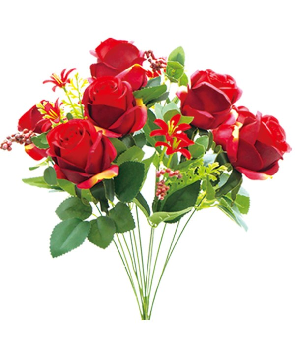 """19""""/12-heads flower red 24/96s"""