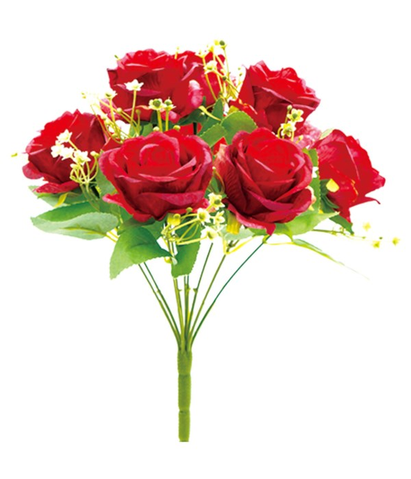 9-heads flower red 24/96s