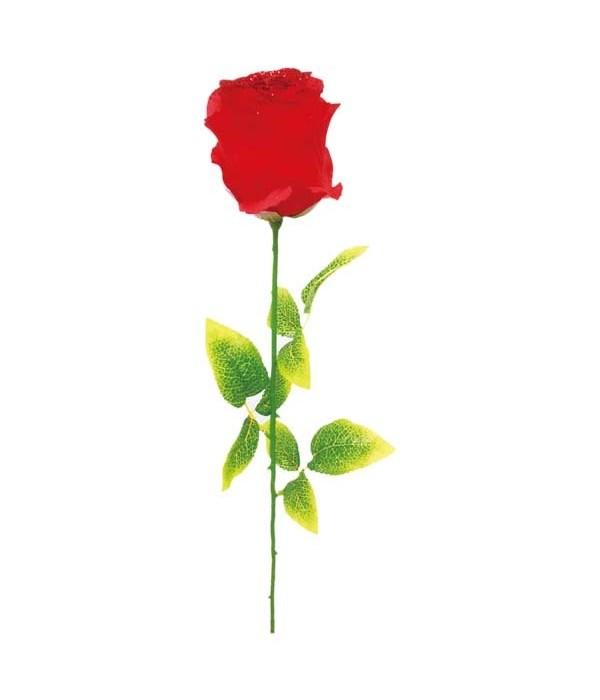"32"" rose w/glt red 72s"