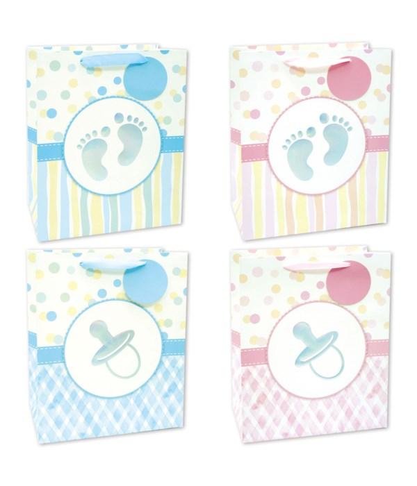 "baby gift bag 10.5x13x5.5""/L"