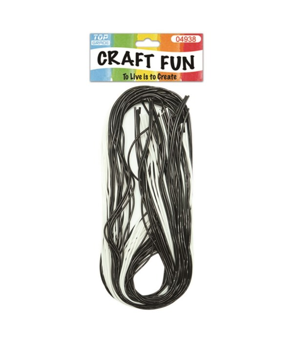 40ct craft rope blk+wht 24/288