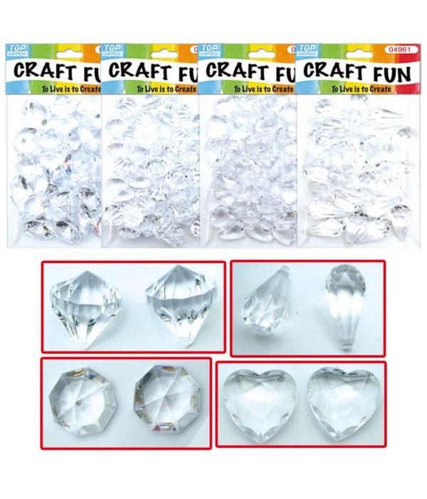 0.5lb/227g acrylic crystal 48s