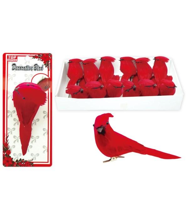 x'mas redbird 12x4x6cm 12/480s