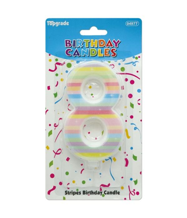 b'day candle rainbow #8 12/240