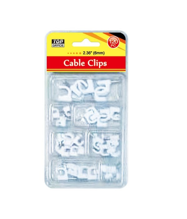 cable clip 6mm/120ct 24/96's