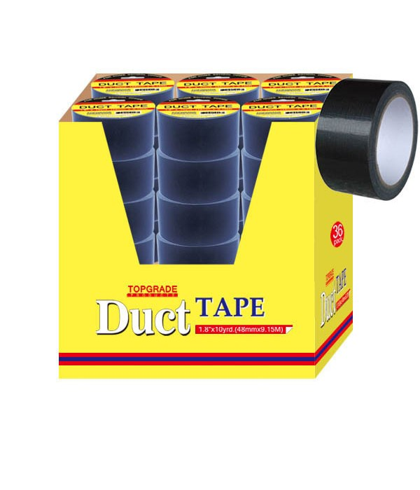 """duct tape/blk 1.8""""x10yd 36/72s"""
