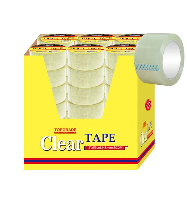 """clear tape 1.8""""x55yd 36/72s"""