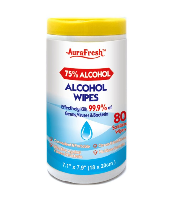 75% alcohol wipes 80ct/12s
